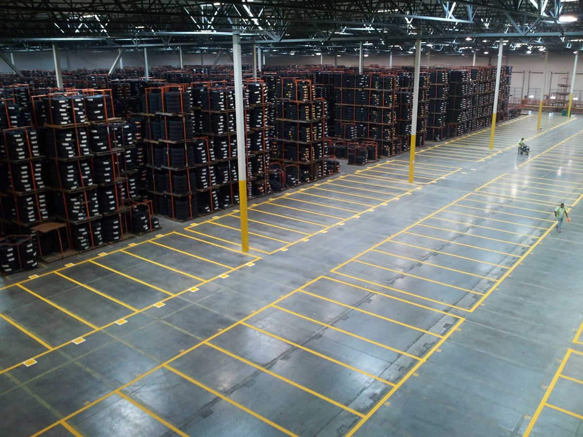 PROPER WAREHOUSE STRIPING